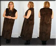New Sleeveless Brown Rabbit Fur Coat Fur Lining Fur Liner Size Medium 6 8 M
