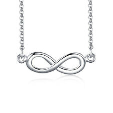 Simple 925 Sterling Silver Petite Infinity Necklace Infinite Jewellery Forever