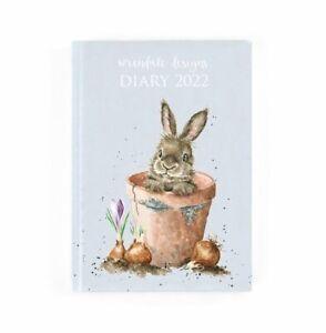 Wrendale Designs Desk Diary 2022 - Rabbit in Flower Pot Hardback Planner