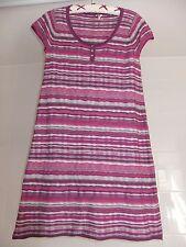 """White Stuff Dress Jumper Dress Size 12 L36"""" Pink Striped Thin Knit"""