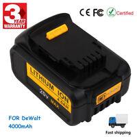 HOT 20 Volt Battery For DEWALT DCB200 DCB204 20V Max XR 4.0Ah Lithium-Ion Power