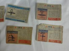 lot of 8 Herald Tribune Wings Airplane Cards Topps Vintage