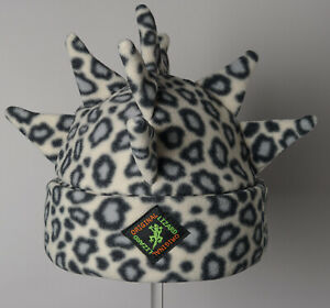 Snow Leopard Spike Fleece Ski & Outdoor Hat Unisex by Original Lizard