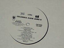 VARIOUS COLUMBIA SLOW JAMS II Lp RECORD SAMPLER MARIAH CAREY HERO NEVER FORGET +