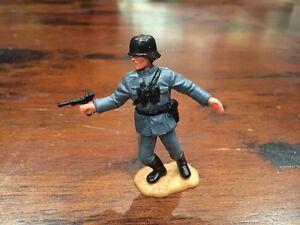 Timpo WW2 German Officer - Black Helmet - Rare - 1970's