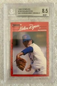 1990 Donruss Nolan Ryan #166 Beckett 8.5 NM MT +  HOF - Annv Original