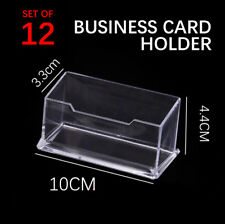 LOTS 12x New Business Single slot Card Holder Acrylic Display Stand Clear
