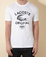 Lacoste Original Paris Print T Shirt - White - Large (5) L