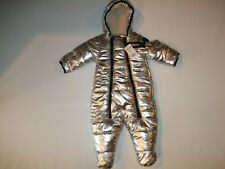 STEVE MADDEN Winter SILVER SPACESUIT Hooded SNOWSUIT Baby Size 3 - 6 Months NEW