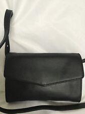 NWOT MANGO Barcelona Black Faux Leather Cross Body/Shoulder Bag / Handbag