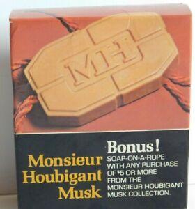 VTG Monsieur Houbigant Musk Cologne Soap On A Rope New Old Stock Gift 6 oz 178 g