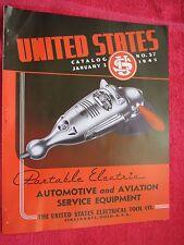 1945 US UNITED STATES AUTOMOTIVE & AVIATION SERVICE EQUIPMENT BROCHURE