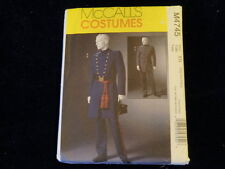 McCall's Costumes Pattern M4745 Men's Civil War Uniform Sz XL-3XL Uncut    P5