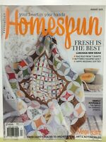 Patterns still attached. Australian HOMESPUN  Magazine  No.167 Vol. 16.08 Ex-lib