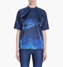Nike Damen Navy NSW Print Sport T-Shirt Größe groß Bnwt
