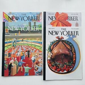 The New Yorker Magazine - November 2019 - 4 Issues - FREE POST