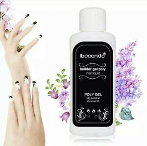 Ibcccndc poly Gel Slip solution 45ml Poly UV LED Nail Extension liquid FAST Uk