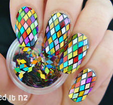 2mm Nail Art Glitter Rhombus Sheet Colorful Sparkling DIY Decoration