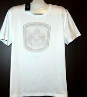 Hugo Boss Men's White Logo Print Cotton T-Shirt Shirt Size 3XL Slim Fit NEW