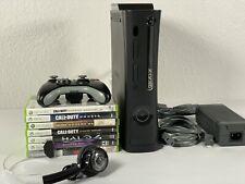 Microsoft Xbox 360 Fat, Bundle 250GB - Matte Black - Games Headset Free Shipping
