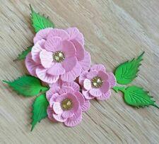 Paper Flower Head Cutting Dies Card Stencil Scrapbook Cutter Embossing Frame Kit
