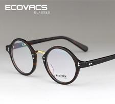 Acetate Women Men Vintage Retro Round Eyeglass Frames Eyewear Glasses Tortoise