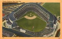 Yankee Stadium New York City NY pm 1958 in Bronx Linen aerial view Postcard
