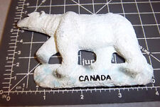 Canada Fridge Magnet, Large Polar Bear, 3D resin style magnet, nice collectible