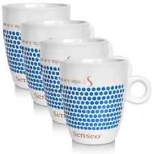 4 x Senseo Design Fussball EM Sonderedition blau Porzellantasse Kaffeetasse 160