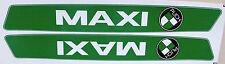 Aufklebersatz Abzugsatz Grün Weiße Schrift Maxi mit Puch Emblem links und rechts