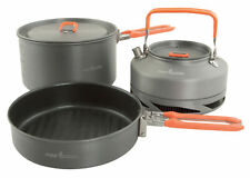 Fox Tackle NEW 3 Piece Compact Lightweight Cookware Set CCW001