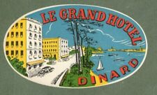 RARE Hotel luggage label FRANCE Le Grand Dinard  #133