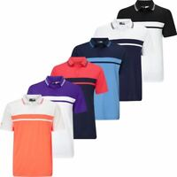 SALE!! CALLAWAY GOLF MENS OPTI-DRI ESSENTIAL COLOUR BLOCKED PIQUE POLO SHIRT