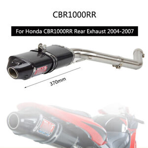 For Honda CBR1000RR 2004-2007 Exhaust System Motorcycle 2 Middle Slip On Escape