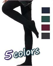 2 x Girls children school stockings footed tights pantyhose black opaque 6-12 yr
