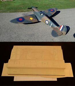 "100"" wingspan Supermarine Spitfire Mk-V R/c Plane short kit/semi kit and plans"