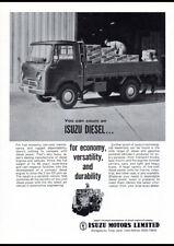 "1963 ISUZU ELF DIESEL TRUCK AD A1 CANVAS PRINT POSTER FRAMED 33.1""x23.4"""
