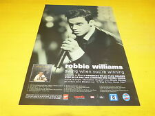 ROBBIE WILLIAMS - SWING WHEN !!!!!!!!PUBLICITE / ADVERT