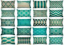 "12x20"" Turquoise Vintage Home Decor Pillow Cover Sofa Bedding Cushion Case Usa"