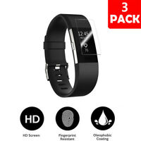 3PCS Screen Protector Full Coverage For Fitbit Charge 2 HD Clear AntiBubble Film