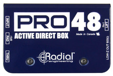 Radial Pro48 Active DI for acoustic guitar & bass, 48V phantom , BEST OFFER R013