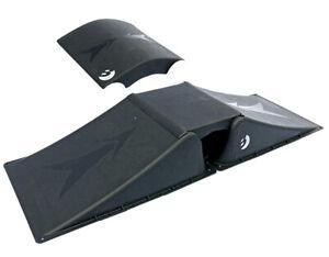 Best Skater Doppelrampen-Set für Skateboard, Waveboard, Skaterrampe 4tlg schwarz