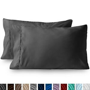 Premium 1800 Series King Pillowcase Set of 2 - Ultra-Soft - Hypoallergenic