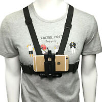 Chest Mount Harness Strap Phone Holder Action Camera POV for Samsung iPhone