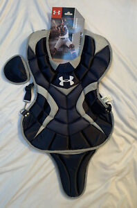 Under Armour Youth Pro Catcher Chest Protector 15.5inch Navy Blue Ages 1216