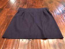 Marni Dark Purple Wool Straight Skirt, Size 10 (US) 46 (IT)