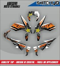 KIT ADESIVI GRAFICHE ROCKSTAR WHITE x KTM DUKE 690 III 2012-2016 DECALS DEKOR