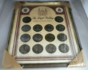 THE ROYAL WEDDING FRAMED CROWN COIN COLLECTION 1981 14 CROWN COIN SET