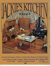 Jackie's Kitchen Volume II Dollhouse Miniature Furniture Craft Instruction Book