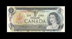 """1973 BANK OF CANADA QEII $1 **Lawson & Bouey** """"FC"""" (( GEM UNC ))"""